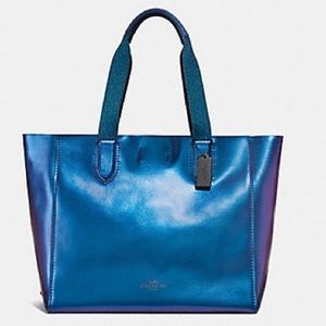Coach Hologram Iridescent Mermaid NASA Bag Purple
